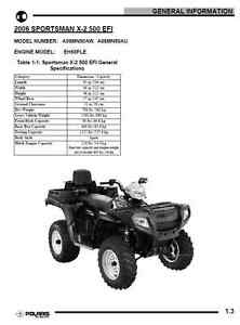 Polaris 2006 Sportsman X-2 500 EFI X2 service manual in 3