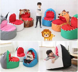 toddler bean bag chairs rocking chair slats baby infant kids sofa safari character shark image is loading