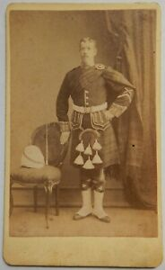 Small Collection of 19th Century Soldier CDV - (36) Scottish Soldier Hong Kong