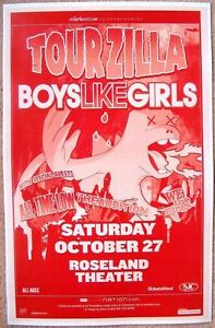 details about boys like girls all time low 2007 gig poster tourzilla portland oregon concert