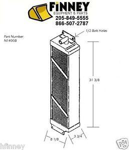 Case 1150E 1155E NEW N14008 Hydraulic oil cooler dozer 1/2