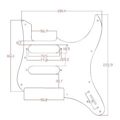 Yamaha Pacifica 112v Wiring Diagram Soccer Field Positions White Pearl Guitar Pickguard For Replacement Description