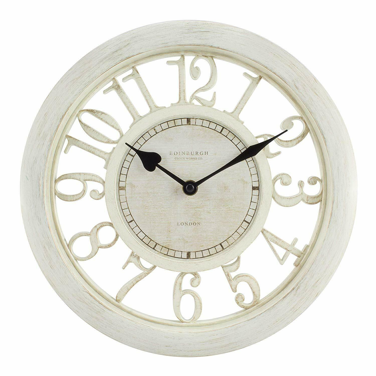 Coravelle Bettwäsche Domed Glass Wall Clock White Face Quartz Mayfair & Co 30cm Gift F&f