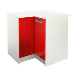 details sur start meuble de cuisine bas d angle avec plan de travail l 88 x p 88 cm rouge