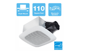 details about delta breez 110 cfm ceiling bathroom exhaust fan with bluetooth speaker bathrrom