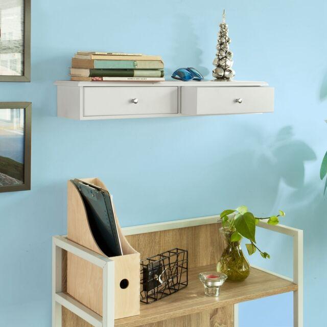 sobuy meuble d entree de rangement etagere murale 2 tiroirs armoire frg43 w fr