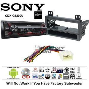 wiring diagram for sony radio tooth anatomy stereo harness great installation of cd car kit dash mounting with rh ebay com marine