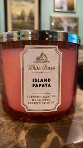 Island Papaya Gentle Foaming Hand Soap - White Barn   Bath & Body...