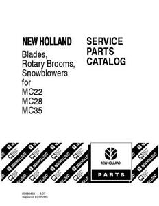 NEW HOLLAND BLADES,ROTARY BOOMS, SNOWBLOWERS FOR MC22,MC28