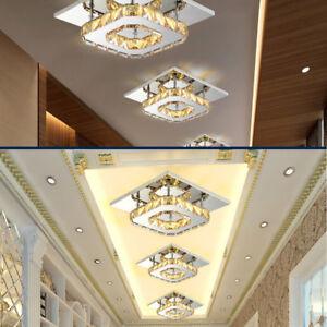Lampada soffitto cristallo LED LUCE Cucina Plafoniera Dimmerabile soggiorno  eBay