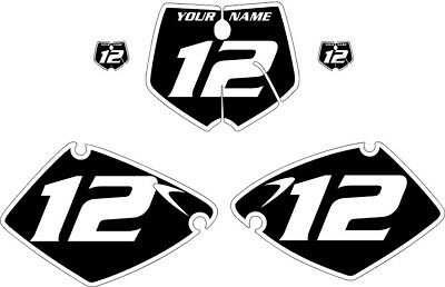 Fits KTM 250 SX 2001-2002 Pre-Printed Black Backgrounds