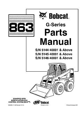 Bobcat parts manual 863 Skid-Steer Loader 6900954 (11-00