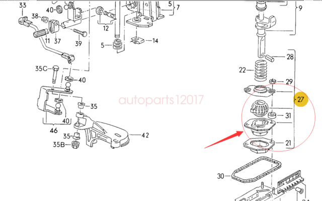 Genuine New Gearshift Lever Repair Kit For Golf Jetta 84