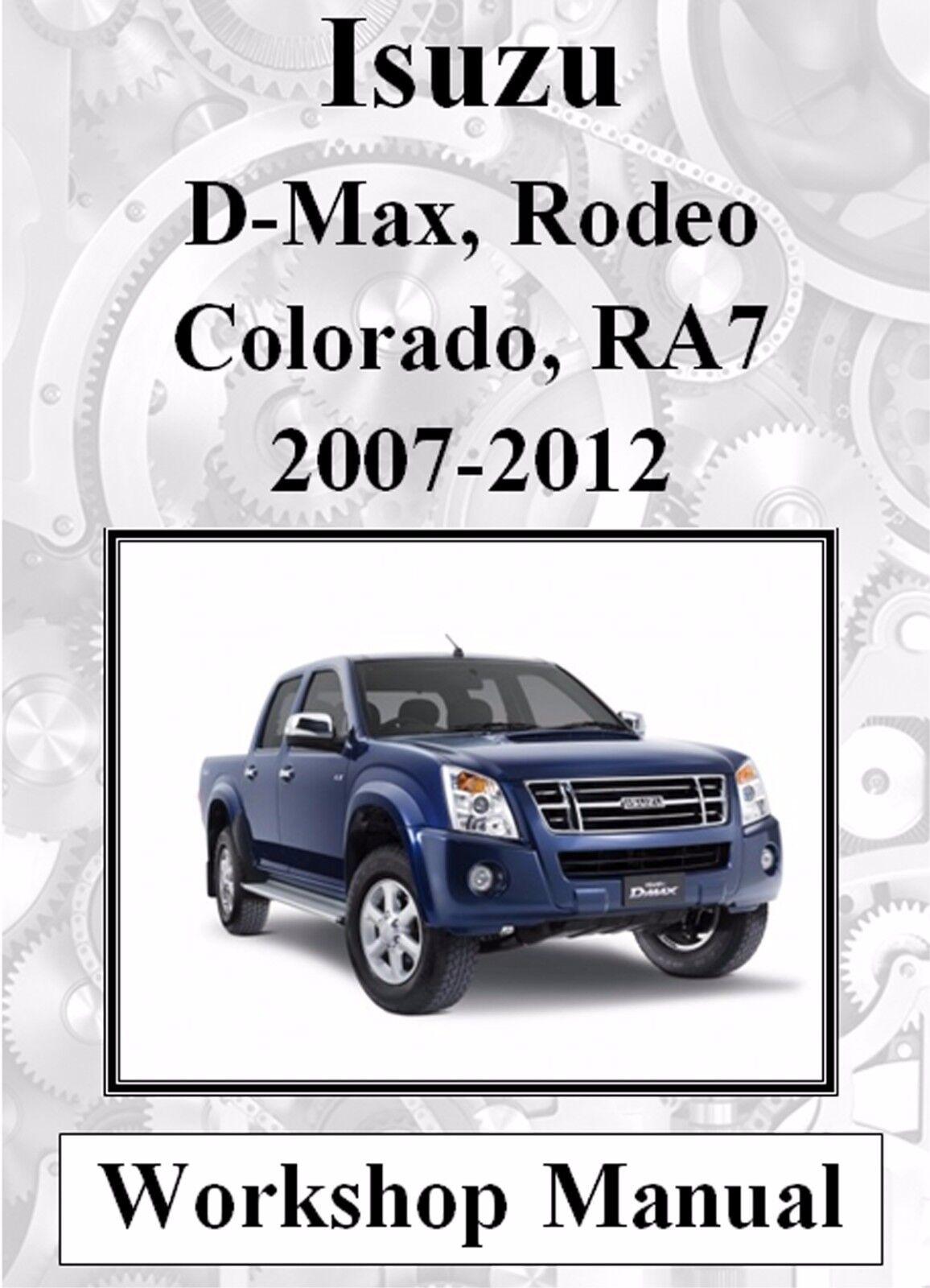 hight resolution of isuzu d max rodeo holden colorado ra7 2007 2012 workshop manual digital download ebay