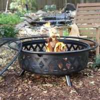 Portable Fire Pit Wood Heater Fireplace Extra Large Round ...