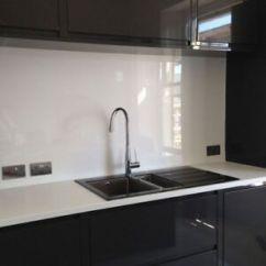 Kitchen Splash Guard Counter Canisters Glass Look Acrylic Plastic Easy Wipe Splashback Bathroom Image Is Loading