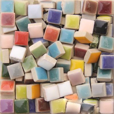 mini square ceramic mosaic tiles for crafts pieces diy hobbies 0 39 in mosaic ebay