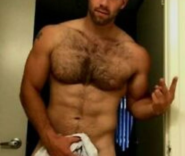 Image Is Loading Shirtless Male Hairy Chest Beard Beefcake Muscular Muscle