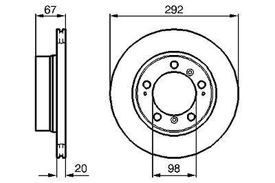Porsche Boxster 1996-2009 986 OEM Rear Vented Brake Disc