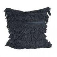 Large Square Sofa Cushions Beds Sydney Ikea 50cm Black Fringed Tassel Scatter Cushion Boho Image Is Loading