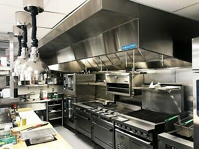 9 commercial kitchen wall canopy hood exhaust fan and supply fan package ebay
