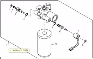 John Deere Hydraulic Filter Housing KV18224, KV15396