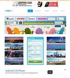 Responsive Automated Hotel, Flight & Car Rental website business