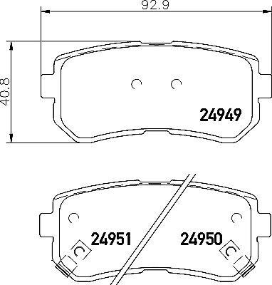 Car Brake Pads Car Brakes & Brake Parts Mintex Rear Brake
