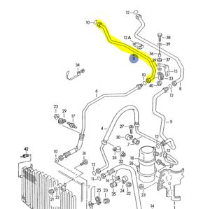 urS4 C4 AAN 1992-93 A/C LINE CONDENSER TO EVAPORATOR