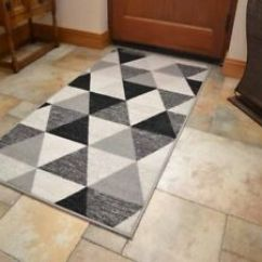 Washable Rugs For Kitchen Table With Chairs Machine Small Large Black Grey Door Hall Runner Image Is Loading