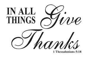 Thanksgiving STENCIL**In All Things Give Thanks**for Signs