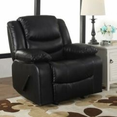 Arm Chair Rocker Chairs For Teens Black Oversized Leather Recliner Recliners Armchair Details About New