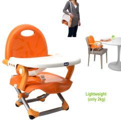 Seat High Chair Wheelchair Lightweight Chicco Pocket Snack Booster Baby Adjustable Portable New Manderino Orange Highchair
