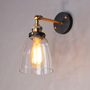 kitchen wall lights remodeling costs swing arm bathroom glass sconce lamp image is loading