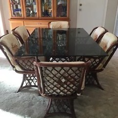 Swivel Chair Regal Captain Kirk Cane Dining Suite Table 6 Chairs Tables