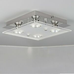 Modern 4 Way Gu10 Led Ceiling Light Fitting Ceiling Spotlight Kitchen Lights Uk Ebay