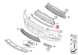 Genuine MINI Cooper R55 R56 Chrome Moulding For Ventgril