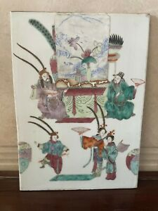 Export hand painted color Chinese Asian antique ceramic charger