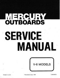 1976-1979 Mercury 150 175 200 225 V-6 2Cycle Outboard