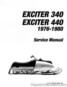 1976-1980 Yamaha Exciter Manual EX340 EX440 Snowmobile