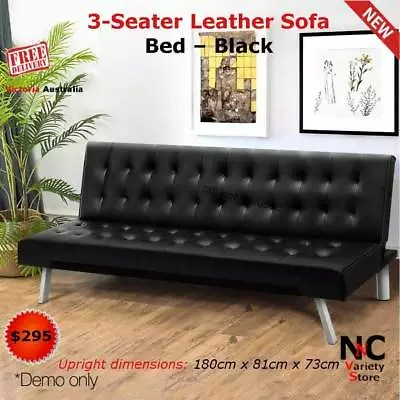 leather sofas online melbourne coaster sofa sleeper with cup holders in black 3 seater bed gumtree australia
