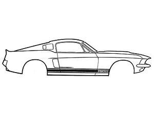 1966 1967 1968 Shelby Mustang GT350 WHITE Stripe Kit scott