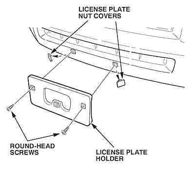 2017-2019 Genuine Honda Ridgeline Front License Plate