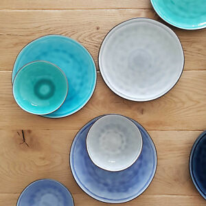Craquele Teller Keramik Ø 17  21  27 cm Schale