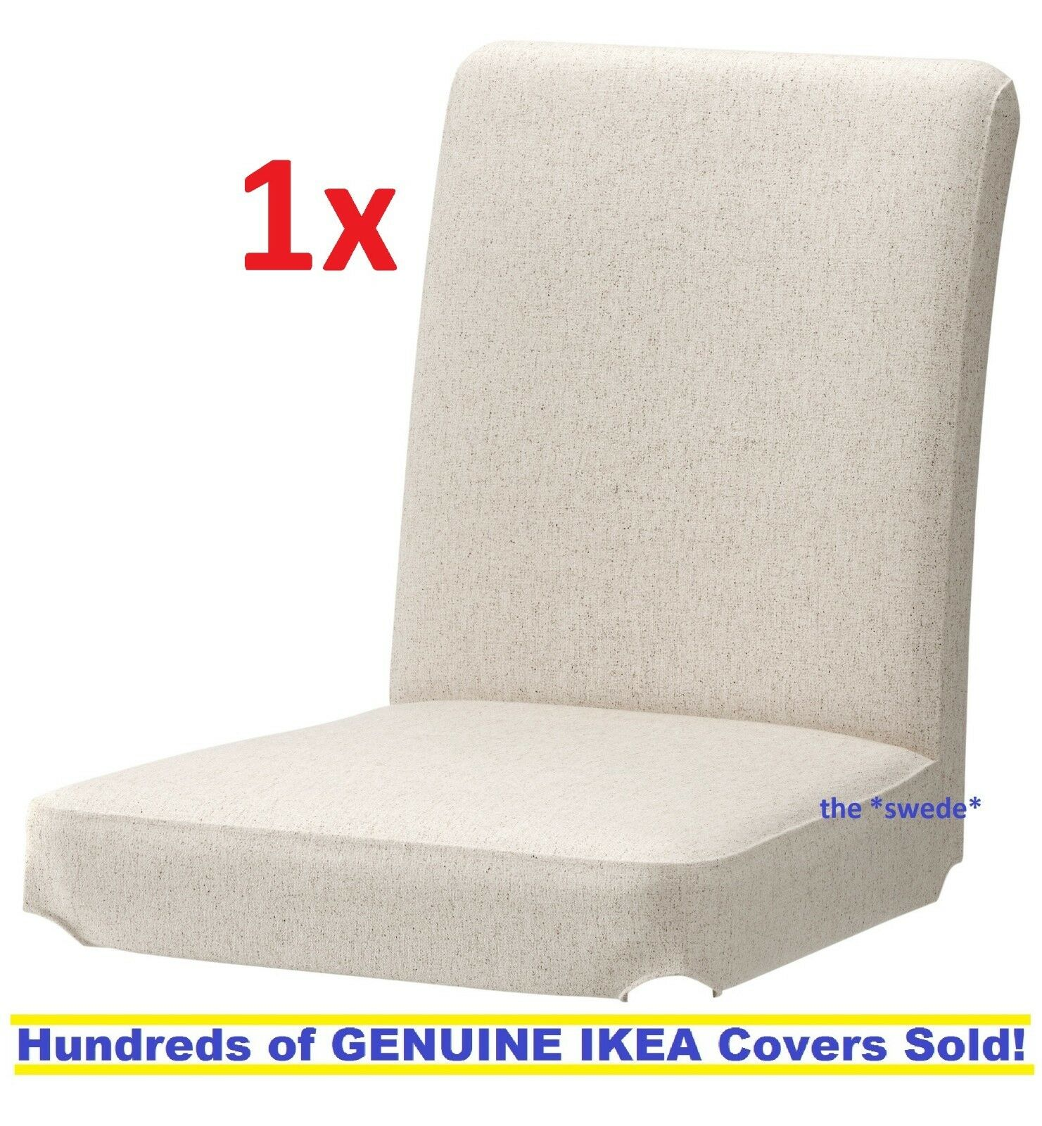 Ikea Henriksdal 21 Dining Chair Cover Linneryd Natural Slipcover 2 Available For Sale Online Ebay