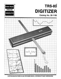 Radio Shack TRS-80 Digitizer Owners Manual 26-1195 * PDF