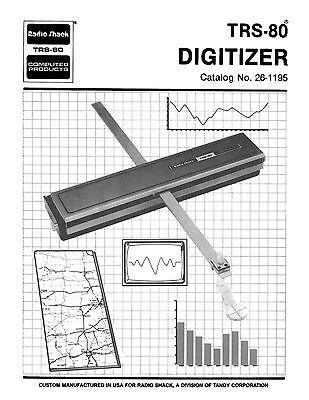 Radio Shack TRS-80 Digitizer Owners Manual 26-1195 * PDF