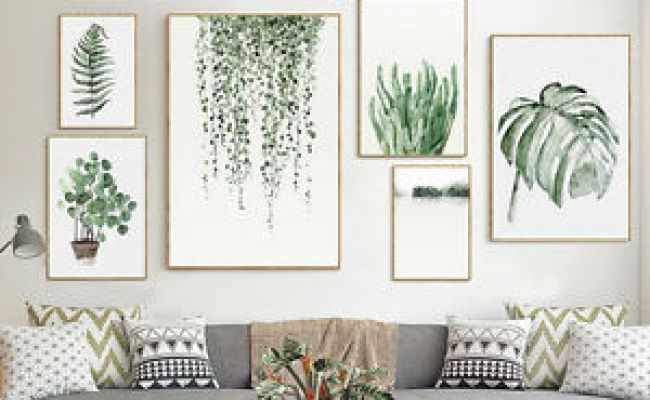 Tropical Plants Leaves Canvas Vintage Poster Wall Art