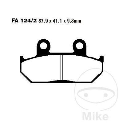 EBC V Semi Sintered Front Brake Pads FA124/2V Honda NX 650