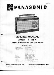 Vintage Panasonic SERVICE MANUAL-Model R-1157 1-Band,7